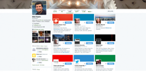 Tweets, media and lists are now displayed in larger format in a grid.