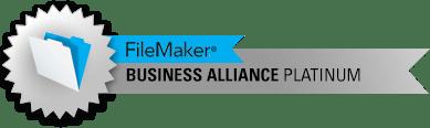 FileMaker Platinum Business Alliance seal