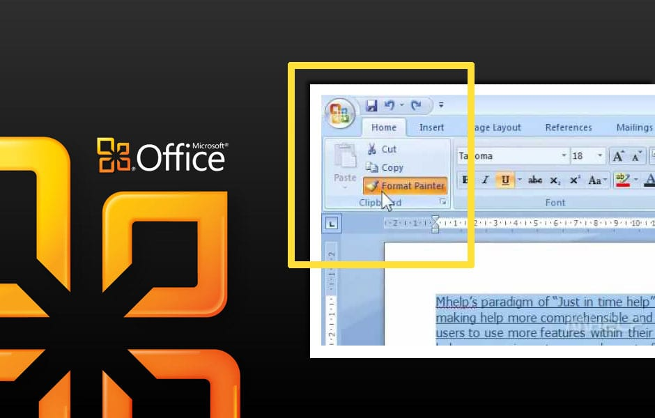 Use the Format Painter Tool in MS Office