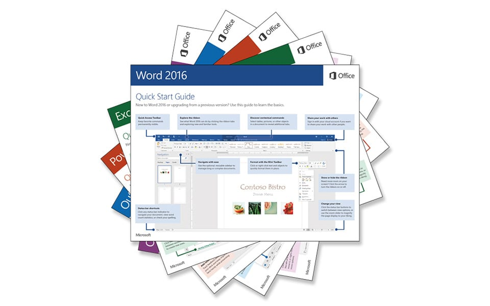 Microsoft Office 2016 Quick Start Guide