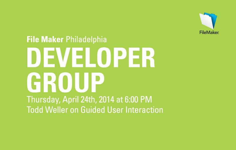 Philly FileMaker Meeting Tonight 4/24/2014
