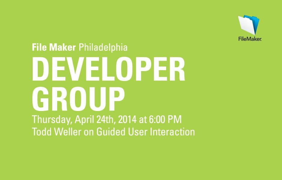 Philly FileMaker Meeting Tonight 4/24/2014