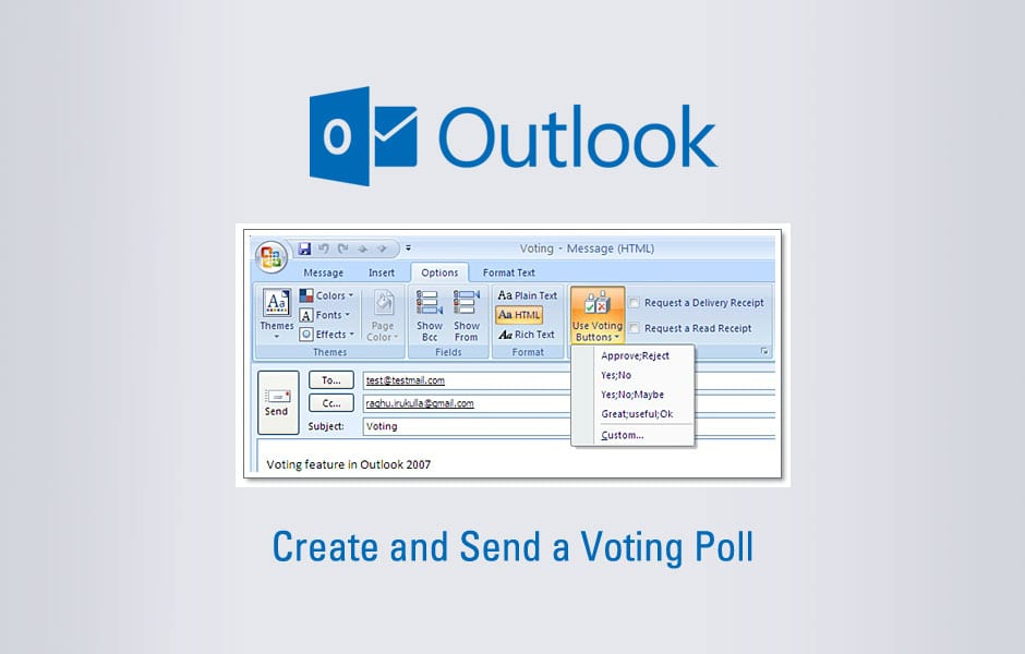 Create and Send a Voting Poll from Microsoft Outlook
